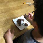 ケーキ食す