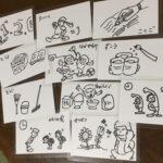 手書きの絵カード