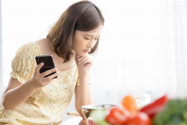 食事で悩むママ